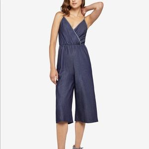 BCBGeneration Surplice Denim Jumpsuit NWT
